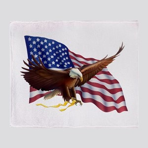 American Patriotism Throw Blanket