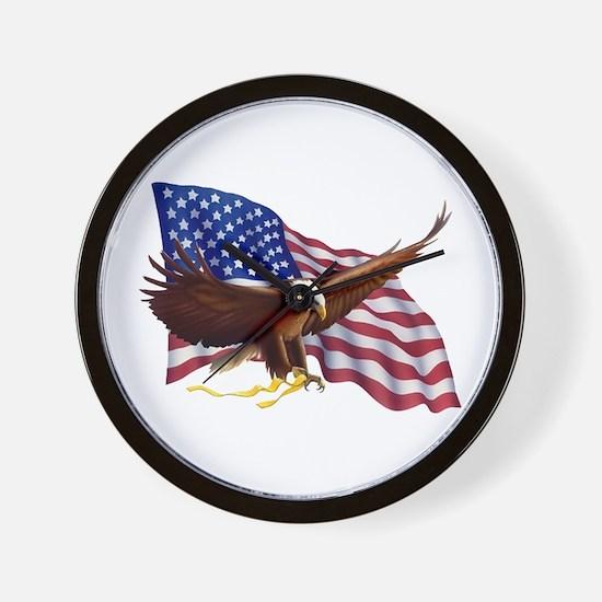 American Patriotism Wall Clock