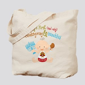 1st Thanksgiving Hanukkah Tote Bag