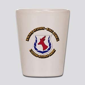 Kagnew Station - East Africa with Text Shot Glass