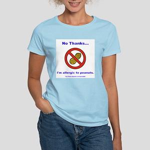 """""""Peanut Allergy"""" Women's Pink T-Shirt"""