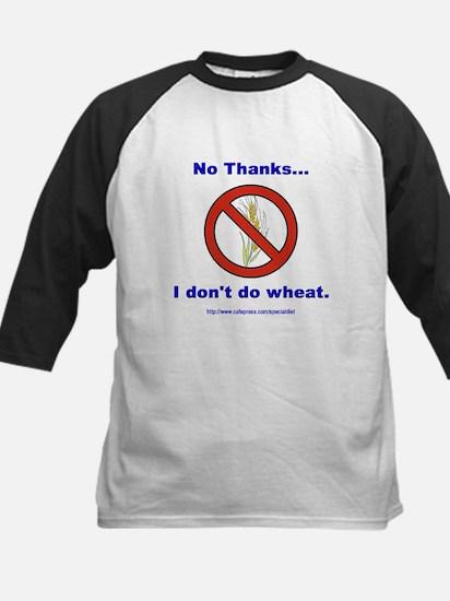 """""""No Wheat"""" Kids Baseball Jersey"""