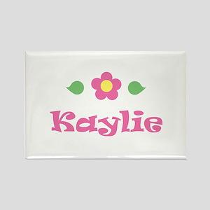 "Pink Daisy - ""Kaylie"" Rectangle Magnet"