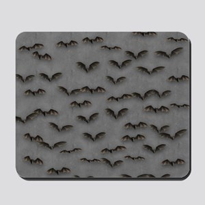 Bats On Gray Mousepad