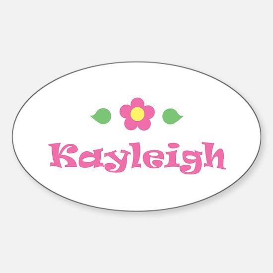 "Pink Daisy - ""Kayleigh"" Oval Decal"