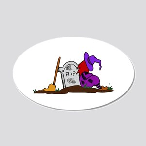Halloween Witch and Tombstone Wall Decal