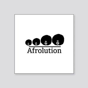 "Afro Afrolution Square Sticker 3"" x 3"""