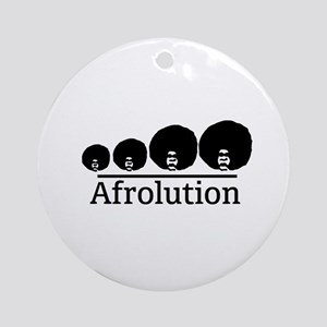Afro Afrolution Round Ornament