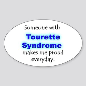 """Tourette Syndrome Pride"" Oval Sticker"