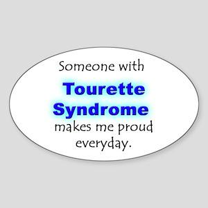 """""""Tourette Syndrome Pride"""" Oval Sticker"""