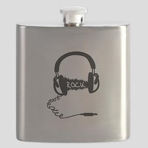 Headphones Headphones Audio Wave Motif: ROCK Flask