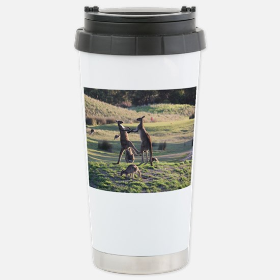 Boxing Kangaroo's Stainless Steel Travel Mug