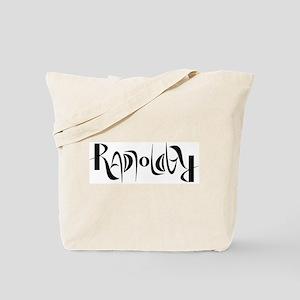 Radiology ambigram Tote Bag