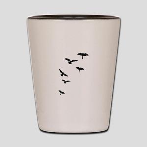 Flying Birds, the free-flying birds Shot Glass
