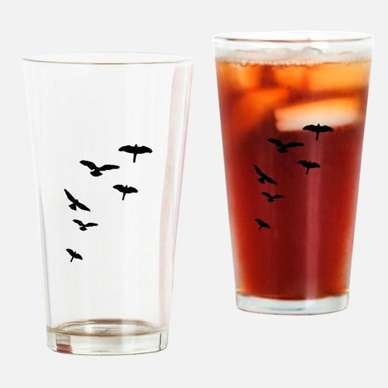 Flying Birds, the free-flying birds Drinking Glass