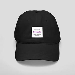 """Dyslexia Pride"" Black Cap"