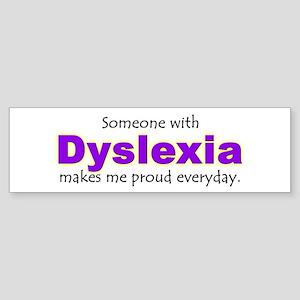 """""""Dyslexia Pride"""" Bumper Sticker"""