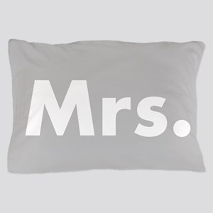 Gray Mr and Mrs set - Her Pillow Case