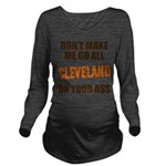 Cleveland Football Long Sleeve Maternity T-Shirt