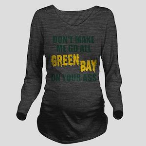 Green Bay Football Long Sleeve Maternity T-Shirt