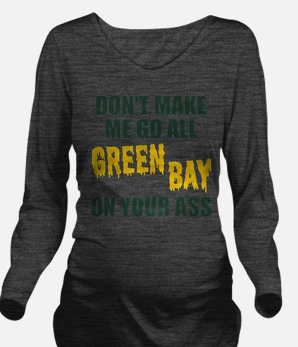 Green Bay Football Long Sleeve Maternity T-Shirt
