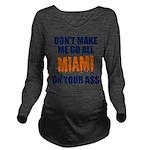 Miami Football Long Sleeve Maternity T-Shirt