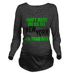 New York Football Long Sleeve Maternity T-Shirt