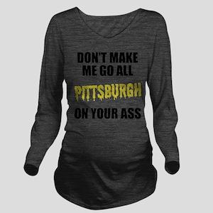 Pittsburgh Football Long Sleeve Maternity T-Shirt