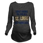 St. Louis Football Long Sleeve Maternity T-Shirt