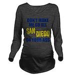 San Diego Football Long Sleeve Maternity T-Shirt