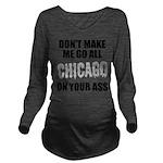 Chicago Baseball Long Sleeve Maternity T-Shirt