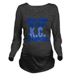 Kansas City Baseball Long Sleeve Maternity T-Shirt