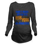 New York Baseball Long Sleeve Maternity T-Shirt