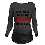Philadelphia Baseball Long Sleeve Maternity T-Shir