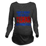 Texas Baseball Long Sleeve Maternity T-Shirt