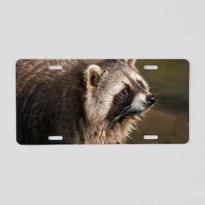 Raccoon Aluminum License Plate