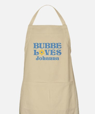 Personalized Bubbe Loves Me Star Apron