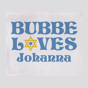 Personalized Bubbe Loves Me Star Throw Blanket