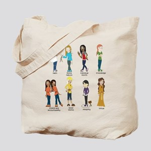 Young Women Values t-shirt Tote Bag