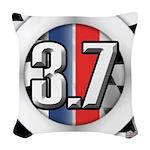 3.7 ROUND Woven Throw Pillow