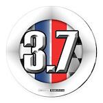 3.7 ROUND Round Car Magnet