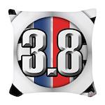 3.8 LOGO Woven Throw Pillow