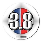 3.8 LOGO Round Car Magnet