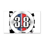 3.8 LOGO Rectangle Car Magnet