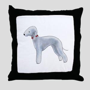 Larry, the Bedlington Terrier Throw Pillow