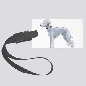 Larry, the Bedlington Terrier Large Luggage Tag