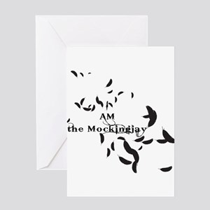 I Am the Mockingjay Feathers Greeting Card