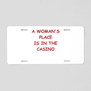 CASINO Aluminum License Plate