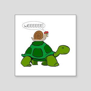 Snail on Turtle Sticker