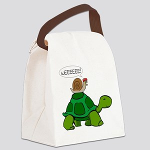 Snail on Turtle Canvas Lunch Bag